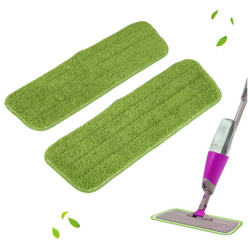 Spray Mop Ersatztücher Sprühmop Bodenwischer Wischmop Wischer Wassertank Grün Vx