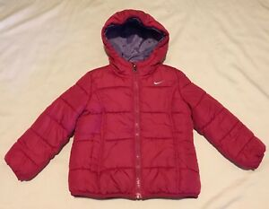 Image is loading Nike-Toddler-Girls-Hooded-Puffer-Coat-Jacket-Hot- cbfe239f2