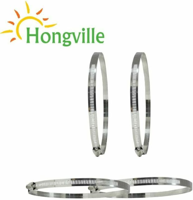 7 Inch Adjustable Stainless Steel Worm Gear Hose Clamps Water Pipe Clamps 4 Pcs