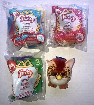 2000 McDonalds Happy Meal Furby Soft Toy Tree Frog  #3 NIP