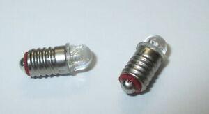 2 x LED E5.5 für Puppenhaus oder Krippenlampen 3,5-4,5Volt   2 Stück  *NEU*