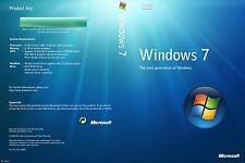 Microsoft Windows 7 Professional + Activation Key + 1 Boot USB 64 bit