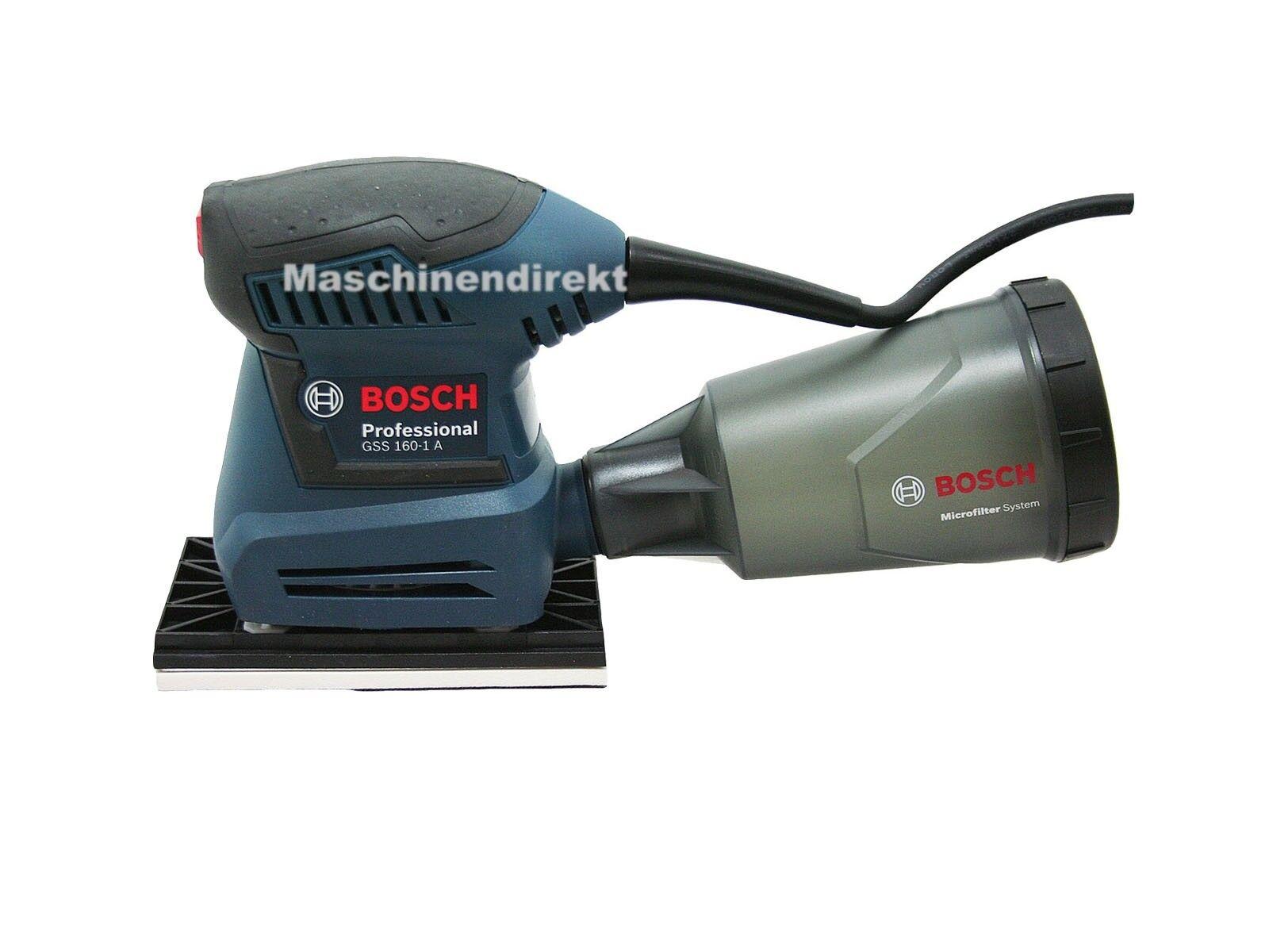 Bosch Schwingschleifer GSS 160-1 A + Microfilter Staubbox 180 W 80 x 133 mm