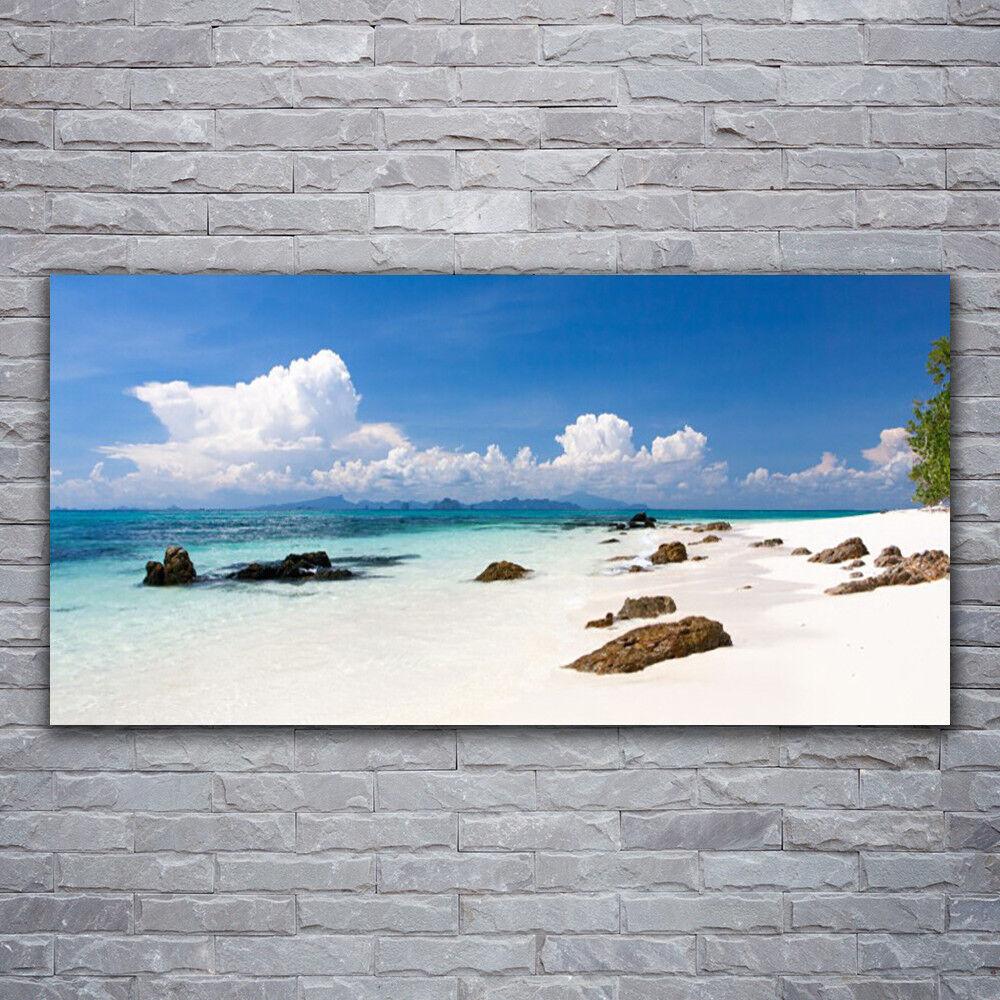 Photo sur toile Tableau Image Impression 120x60 Paysage Pierres Plage