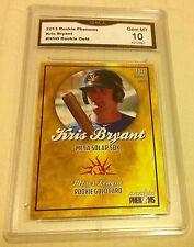 $90.00 Kris Bryant Rookie Gem Mint 10 Gold 2013 Chicago Cubs #1 Draft RC Rare 3