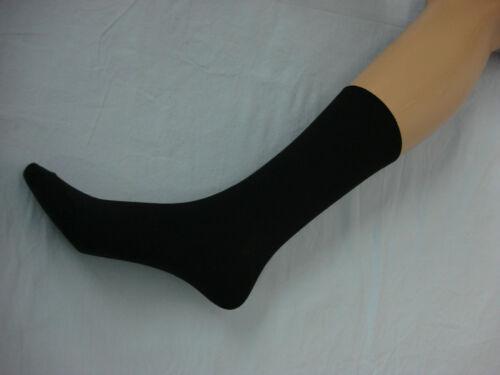 NWOT Women/'s Flat Knit Short Top Trouser Sock 12 Pair Soot Black Size 9-11 #102B