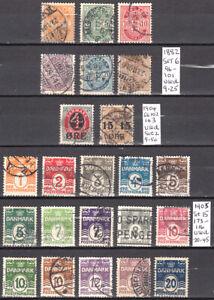 LOT 116. DENMARK 3 SETS, 1882,1904,1905.