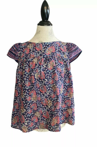 Madewell Story Top In Fan Floral Top Blouse Womens