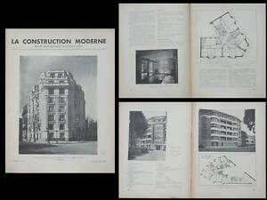 2019 DernièRe Conception La Construction Moderne N°5 1935 - Boulogne Billancourt, Paris Rue Molitor Bien Vendre Partout Dans Le Monde