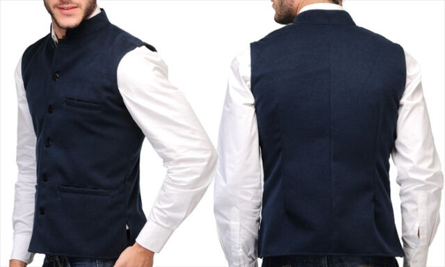 Reversible 2-in-1 Modi Jacket | L & XL size -Ethnic Wear - Sleeveless Waist Coat