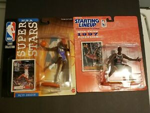 Starting Lineup SLU Mattel NBA Dennis Rodman Bulls & Lakers 2-figure set RARE