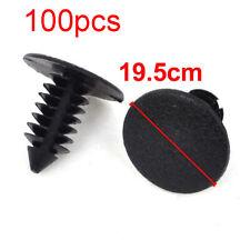 100 Pcs Auto Car Door Fender 7x6mm Hole Push Plastic Rivets Fastener Black