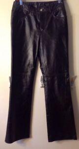 Black-Leather-3-4-Women-039-s-Pants