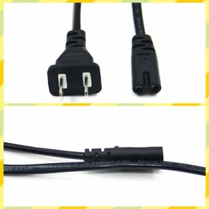 2 Prong Figure 8 AC Power Cord Cable US Plug for PS3 Slim Laptop Adapter Great