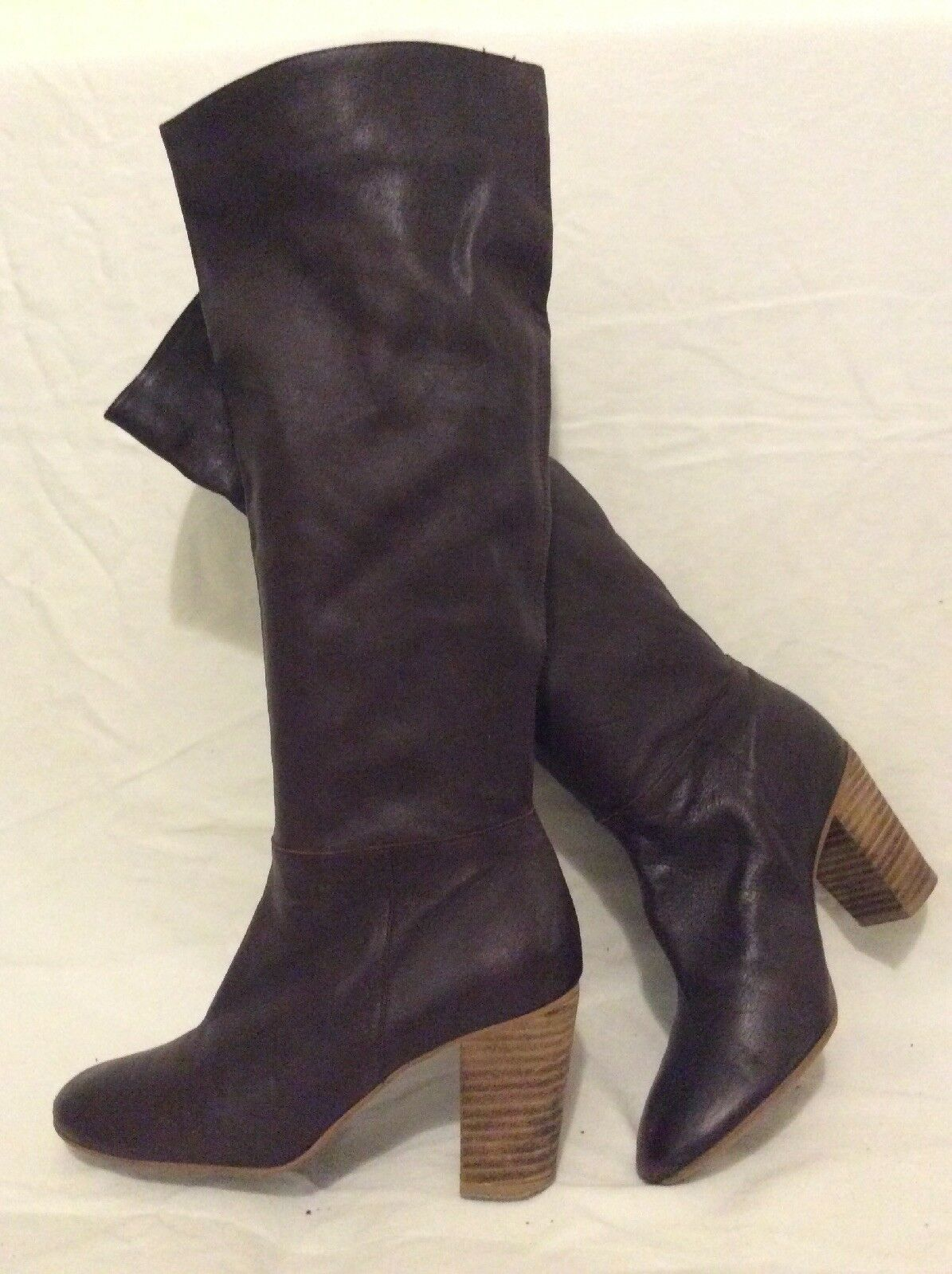 Jigsaw Brown Knee High Leather Boots Size 38
