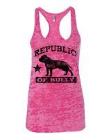 Bully Republic Bully Pit Bull Shirt Burnout Racerback Tank Top Womens 2xl -sm