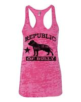 Bully Republic Bully Pit Bull Shirt Burnout Racerback Tank Top Womens 2xl -sm