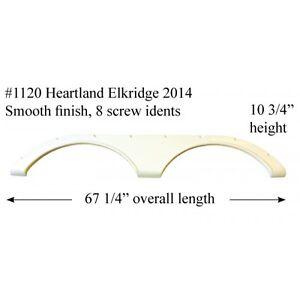 Details about Heartland RV Fender Skirt Fiberglass #1120 Polar White **SEE  DESCRIPTION**