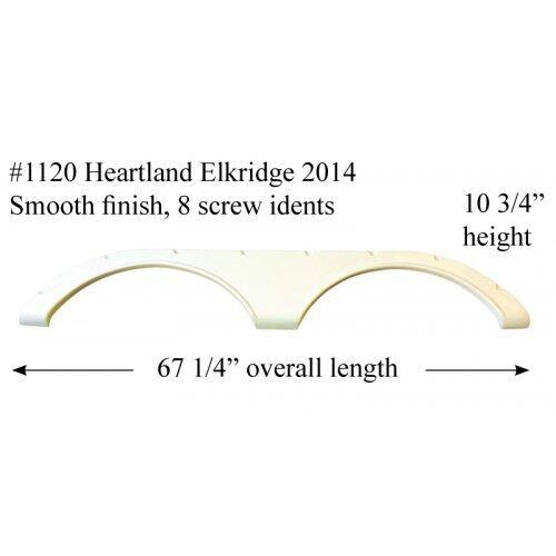 Heartland RV Fender Skirt Fiberglass #1120 Black