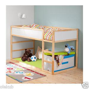 Ikea Kura Reversible Bed White Pine Twin Size 802 538 14 Ebay