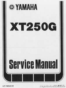 1980-1982-Yamaha-XT250-Motorcycle-Repair-Service-Manual