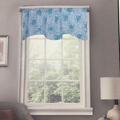 Coastal Sealife Window Curtain Valance 50 Quot W X 16 Quot L Beach Home Decoration New 626850277555 Ebay