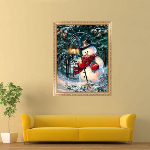 5D Diamond Painting Snowman Christmas Embroidery DIY Cross Stitch Xmas Decor HOT