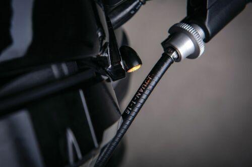 Kuryakyn Kellermann Atto Black Front Rear Amber Turn Signal Light Universal Fit
