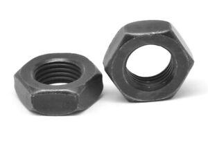 1-4-28-Fine-Grade-8-Hex-Jam-Nut-Thermal-Black-Oxide