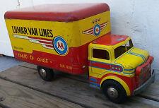 Vintage Marx Lumar Van Lines Coast To Coast Pressed Steel Litho Toy Box Truck