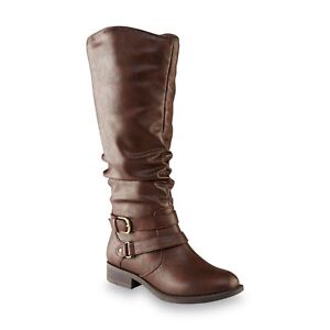 New-Womens-Jaclyn-Smith-Erica-Riding-Boot-Style-30616-Wide-Width-Avail-Brown