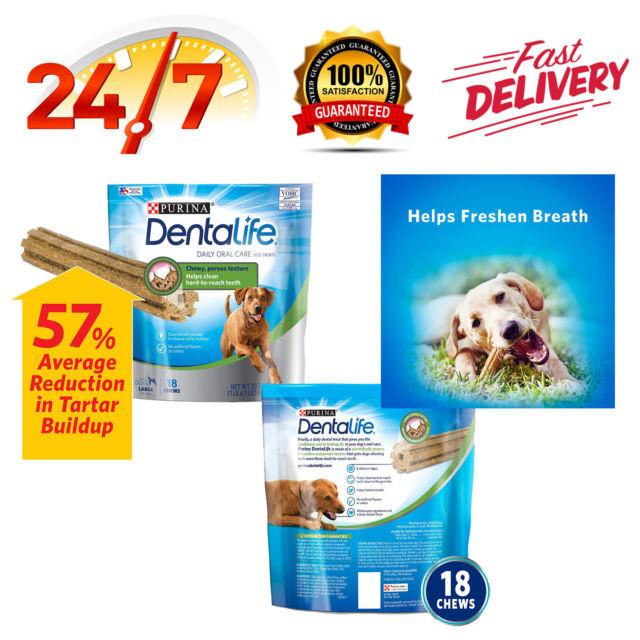 Purina DentaLife Adult Large Dog Treats Regular Care 18, Treats