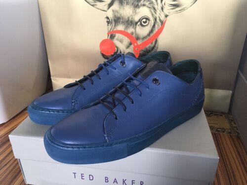 45 Baker basse Nappa Taglia blu Uk New Sneakers 11 London Ovp in pelle Ted 0Az6F0