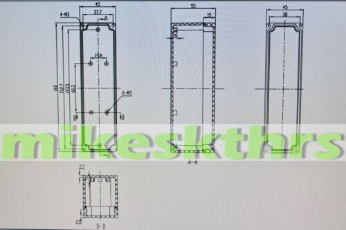 Ge.46 Leergehäuse Klemmkasten Gehäuse 45 x 160 x 55 .....IP65 Kunststoffgehäuse