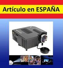 Mini PROYECTOR HD foto proyector VGA home cinema HDMI USB SD musica