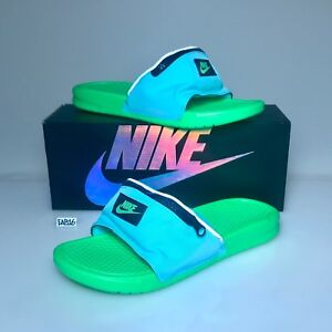 cc30ed2c424dd4 Nike Benassi JDI Fanny Pack Slide Aurora Green Strike AO1037 300 ...