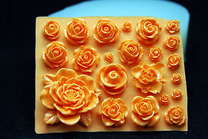 Small Flowers #3 Silicone Mold Chocolate Polymer Clay Jewelry Soap Wax Resin