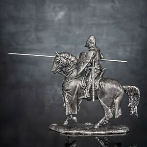 1410-Battle-of-Agincourt-French-knight-De-Cracks-6010Az-54mm-1-32