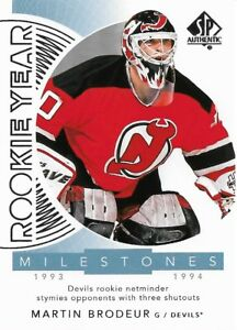 Martin Brodeur Rym Br 2017 18 Sp Authentic Rookie Year