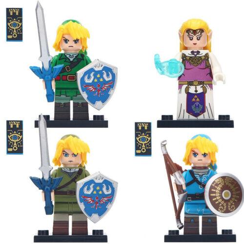 The Legend of Zelda Game Princess Zelda Link Figure For Custom Lego Minifigures