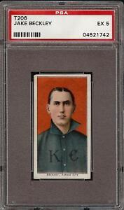 Rare 1909-11 T206 Jake Beckley Piedmont 350 Kansas City HOF PSA 5 EX