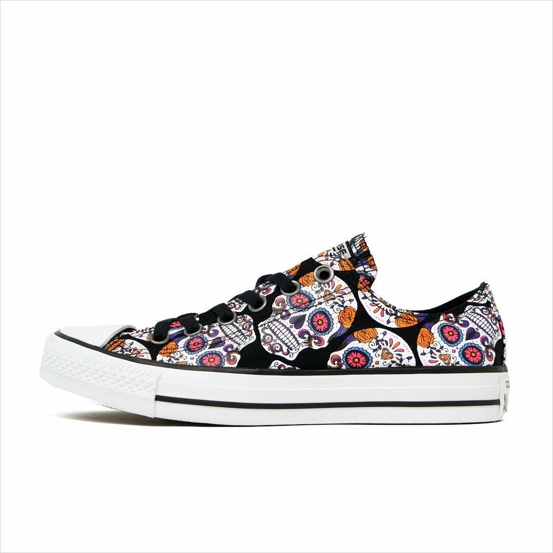 NEU Converse Chuck Taylor All Star Ox 154893F Sugar Skulls Damenss schuhe canvas