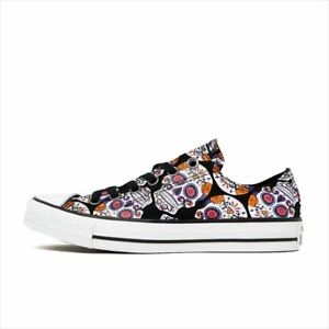 e13abf9c8db2 NEW Converse Chuck Taylor All Star Ox 154893F Sugar Skulls womens ...
