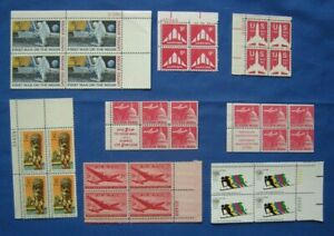 US Air Mail Plate # Blocks of 4 Stamp Collection MNH