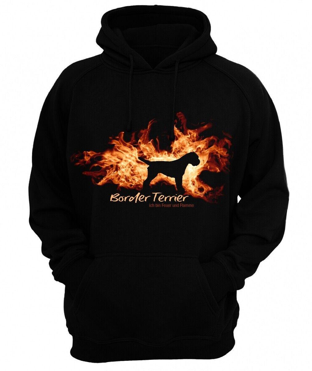 Sweatshirt BORDER TERRIER FEUER UND FLAMME by Siviwonder Hoodie  | Lebhaft  | Verschiedene Stile  | ein guter Ruf in der Welt