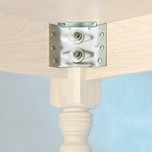 "3-3//8/"" x 2-1//2/"" Set of 4 Metal Corner Table Apron Bracket Furniture Brace"