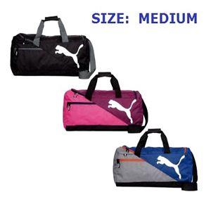 37f52b70e320 Image is loading Puma-Bag-Fundamentals-MEDIUM-Sports-Bag-Football-Black-