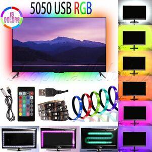 LED-TV-USB-Backlight-Kit-Computer-RGB-LED-Light-Strip-TV-Background-1M-2M-Lights