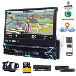 Autoradio-Mit-Navigation-Navi-Gps-Bluetooth-7-034-touchscreen-Dvd-Cd-Usb-Sd-Mp3-1Din
