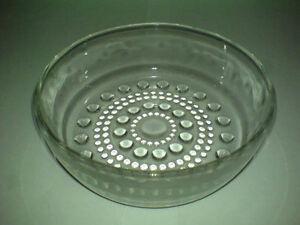 Kleine-Schale-Dessertschale-aus-Glas-Dia-12-cm-H-4-2-cm-Punkte-Perlenmuster
